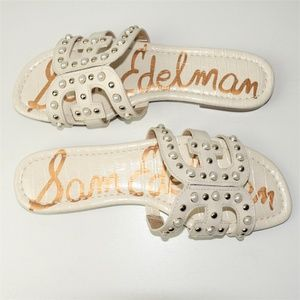 283cddc786c7 Sam Edelman Shoes - Sam Edelman Bay 2 Sandals Ivory Pearl Embellished